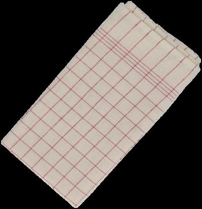 Billede af Viskestykke rød 50x100 cm.