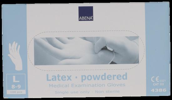 Billede af Latex handsker large pudret
