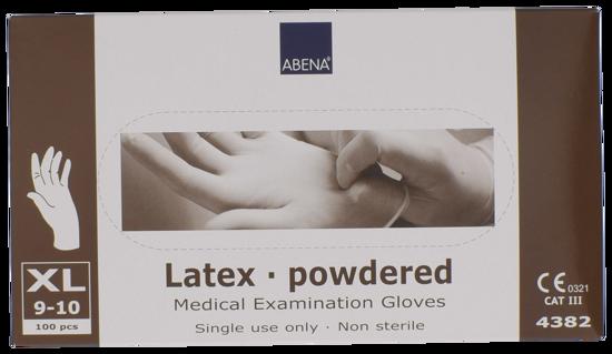 Billede af Latex handsker X-large pudret