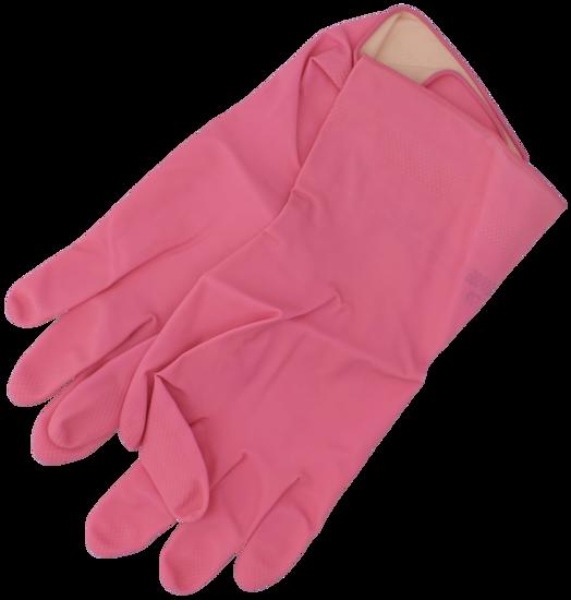 Billede af Gummihandske pink str. M/7,5