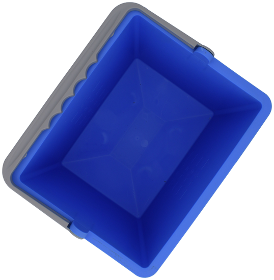Billede af Dit spand firkantet 6l blå